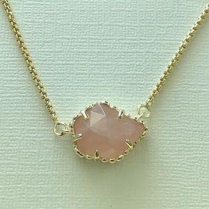 Kendra Scott Rose Quartz Necklace